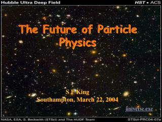 The Future of Particle Physics