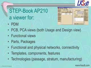 STEP- Book  AP210 a viewer for: