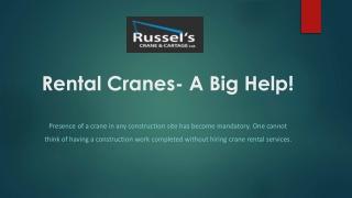 Crane Service Vancouver | Crane Rentals BC | Russel's Crane & Cartage