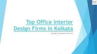 Top Office Interior Design Firms In Kolkata