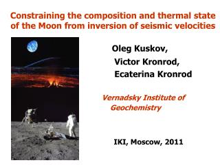 Constraining the composition and thermal state of the Moon from inversion of seismic velocities