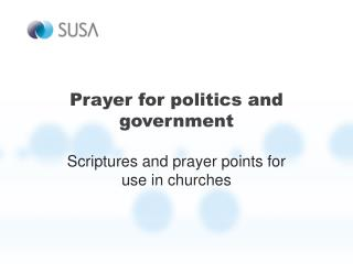 Prayer for politics and government
