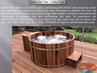 Purchase Cedar Hot Tub - Northern Lights Cedar Tubs