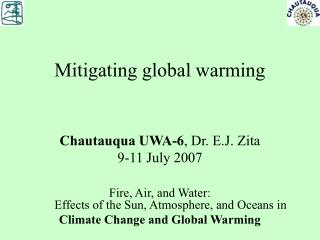 Mitigating global warming