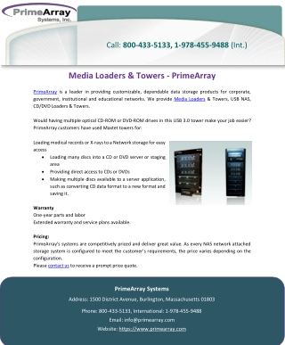 Media Loaders & Towers – PrimeArray