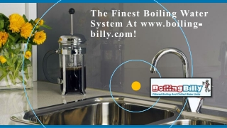The Finest Boiling Water System At www.boiling-billy.com