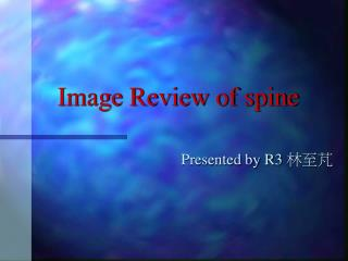 Image Review of spine