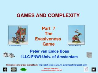 GAMES AND COMPLEXITY