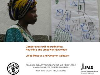 REGIONAL CAPACITY DEVELOPMENT AND KNOWLEDGE MANAGEMENT FOR GENDER EQUALITY:  IFAD