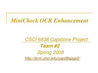 MiniCheck OCR Enhancement