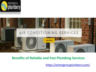 Benefits of Reliable and Fast Plumbing Services