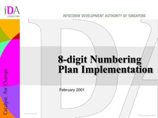 8-digit Numbering Plan Implementation