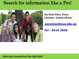 Search for information like a Pro!