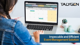 Impeccable and Efficient Event Management Solution