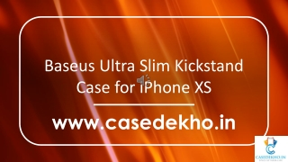Baseus Ultra Slim Kickstand Case for iPhone XS