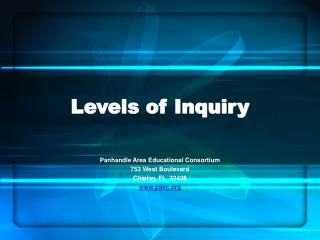 Levels of Inquiry