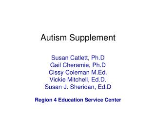 Autism Supplement