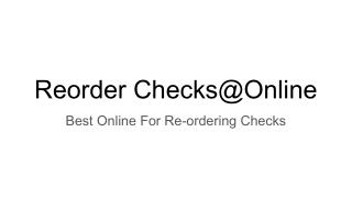 Order Personal Checks