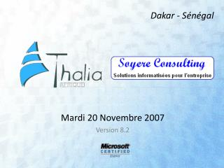 Mardi 20 Novembre 2007  Version 8.2