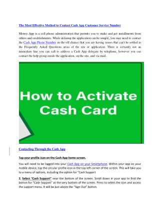 Cash App phone number