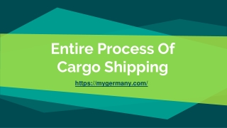 Entire Process Of Cargo Shipping