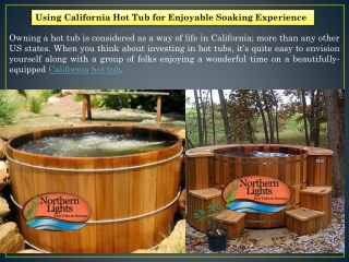 California Hot Tub - Northern Lights Cedar Tubs