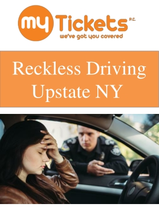 Reckless Driving Upstate NY