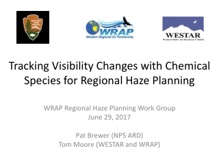 Tracking Visibility Changes with Chemical Species for Regional Haze Planning