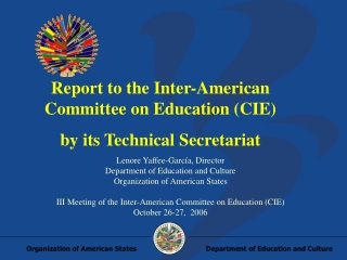 The State of International Education in the United States August  2007