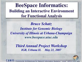 BeeSpace Informatics: Building an Interactive Environment for Functional Analysis
