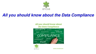 All you should know about the Data Compliance