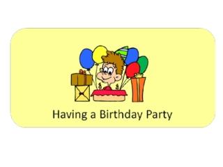 Social Story - Birthday Party