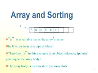 Array and Sorting