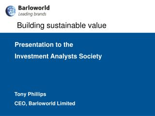 Building sustainable value