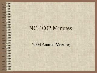 NC-1002 Minutes