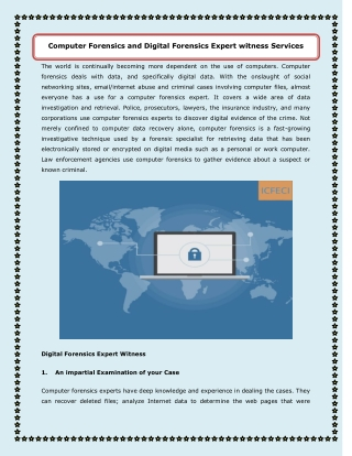 Computer Forensics Service and Digital investigation