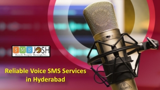 Voice Call SMS Service Providers in Hyderabad - SMSjosh