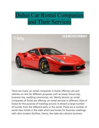 Dubai Car Rental Companies and Their Services