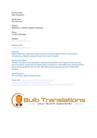 Bulb Translations