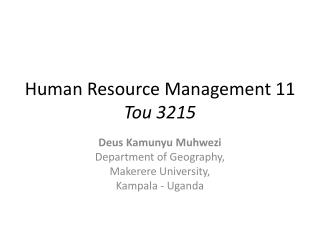 Human Resource Management 11 Tou 3215