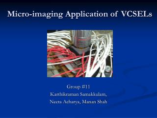 Micro-imaging Application of VCSELs