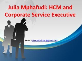 Julia Mphafudi: HCM and Corporate Service Executive