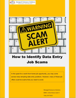 How to Identify Data Entry Job Scams