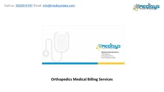 Orthopedics Medical Billing Services