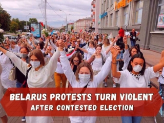 Street protests in Belarus after contested election