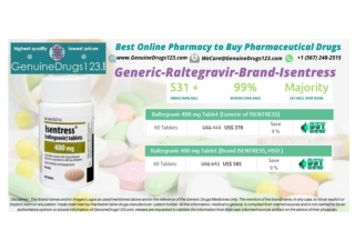 Isentress Raltegravir 400, 600 mg Tablets Medication Online   #GenuineDrugs123