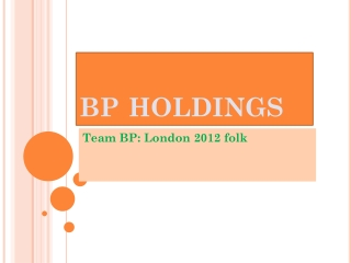 Team BP: London 2012 folk