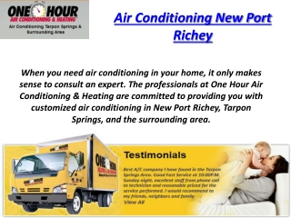 Air Conditioning New Port Richey