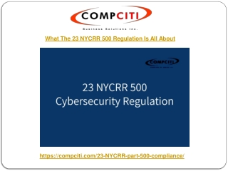 What The 23 NYCRR 500 Regulation Is All About