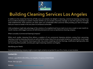 Office Cleaning Services Los Angeles